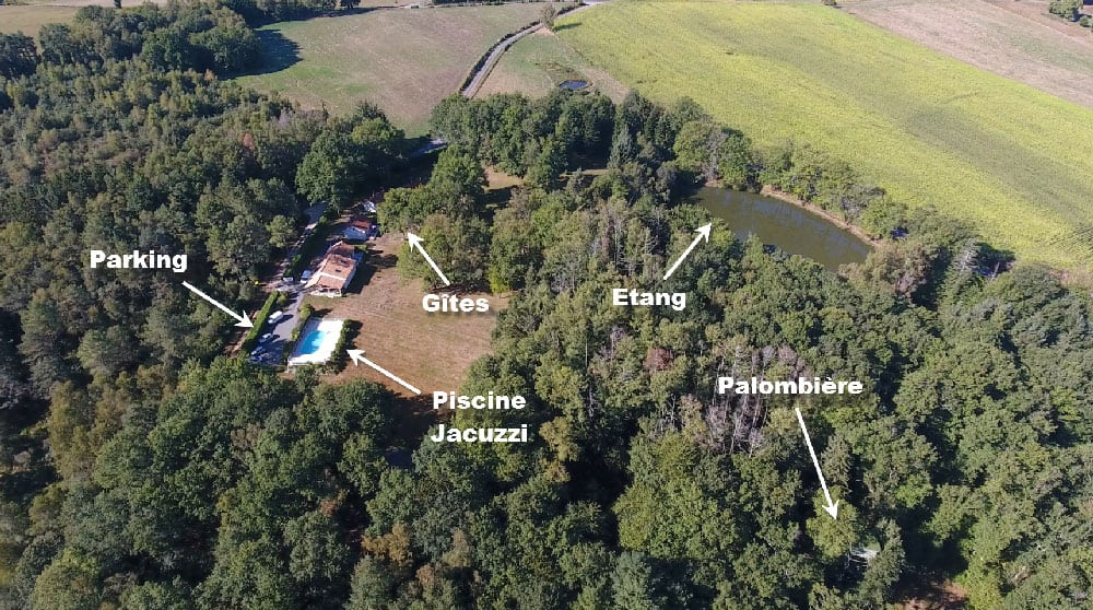 Carte du Domaine du Grand roc location de gîtes en Dordogne